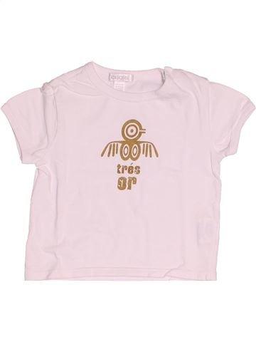 T-shirt manches courtes garçon OKAIDI blanc 12 mois été #1520314_1
