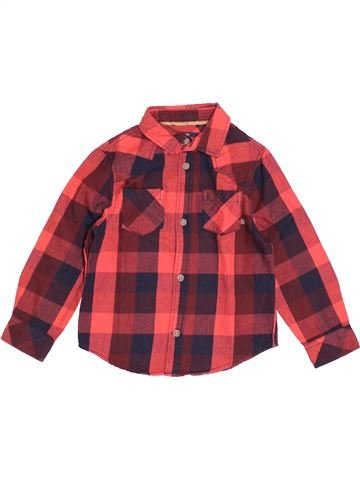 Chemise manches longues garçon KIABI marron 4 ans hiver #1520434_1