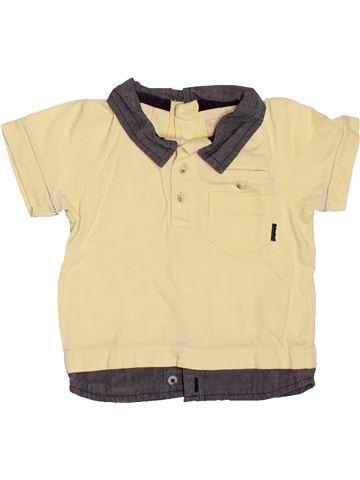 Polo manches courtes garçon TIMBERLAND jaune 6 mois été #1520911_1