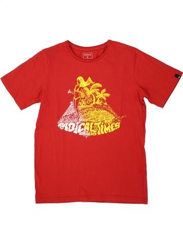 T-shirt manches courtes garçon QUIKSILVER rouge 10 ans été #1520983_1