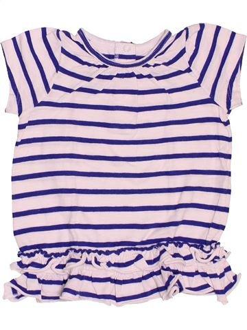 T-shirt manches courtes fille PETIT BATEAU violet 6 mois été #1521543_1