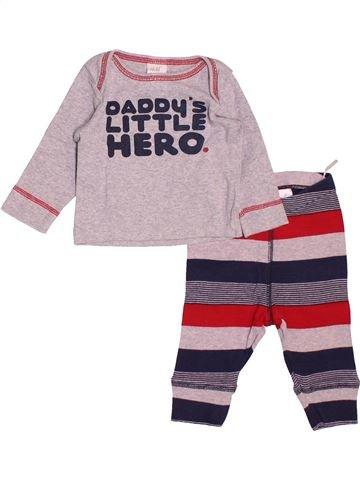 Pyjama 2 pièces garçon H&M rose 3 mois été #1522070_1