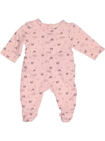 Pyjama 1 pièce fille TAPE À L'OEIL rose 1 mois été #1522860_1