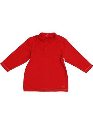 T-shirt col roulé fille ORCHESTRA rouge 6 mois hiver #1522908_1