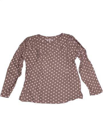 T-shirt manches longues fille CFK marron 5 ans hiver #1524067_1