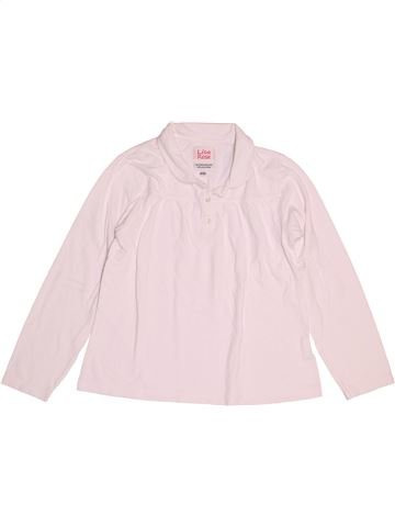 Polo manches longues fille LISA ROSE rose 12 ans hiver #1524818_1