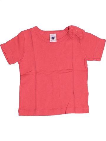 T-shirt manches courtes fille PETIT BATEAU rose 12 mois été #1524951_1