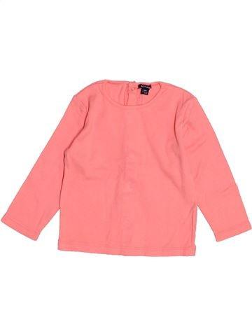 T-shirt manches longues fille KIABI rose 18 mois hiver #1525016_1