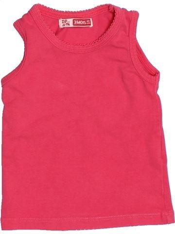 T-shirt sans manches fille DPAM rose 3 mois été #1525310_1