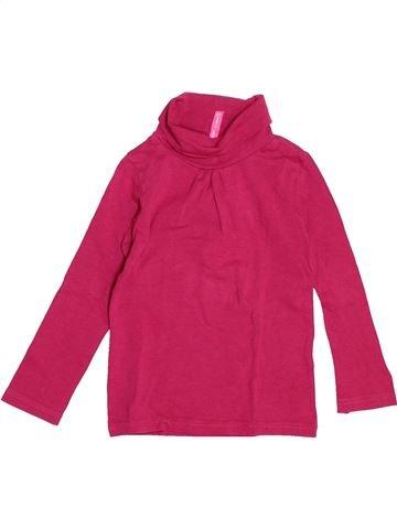 T-shirt col roulé fille GEMO rose 4 ans hiver #1525428_1