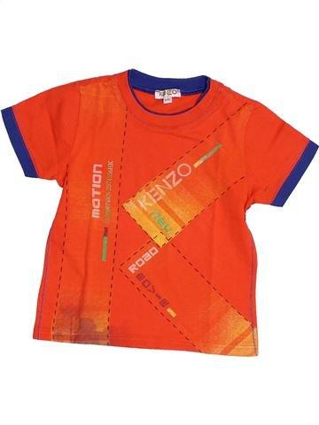 T-shirt manches courtes garçon KENZO rouge 3 ans été #1525636_1
