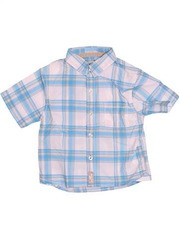 Chemise manches courtes garçon OKAIDI bleu 12 mois été #1526912_1