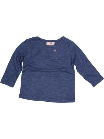 T-shirt manches longues garçon DPAM bleu 6 mois hiver #1526920_1
