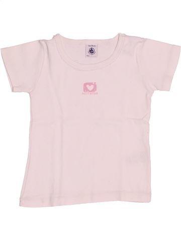 T-shirt manches courtes fille PETIT BATEAU rose 2 ans été #1526967_1