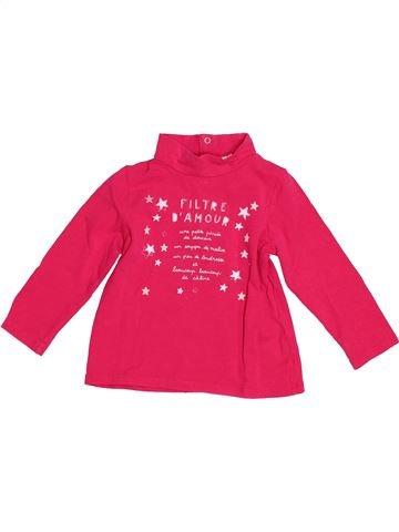 T-shirt manches longues fille DPAM rouge 2 ans hiver #1527116_1