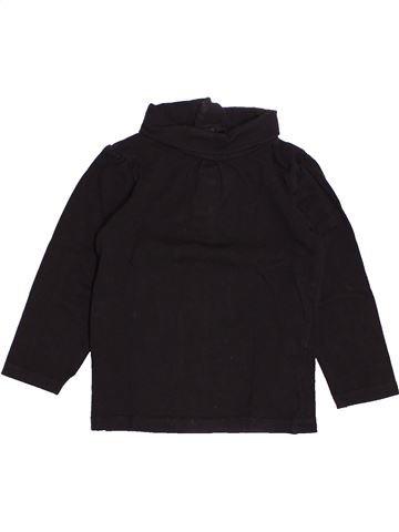 T-shirt col roulé fille KIABI noir 2 ans hiver #1527808_1