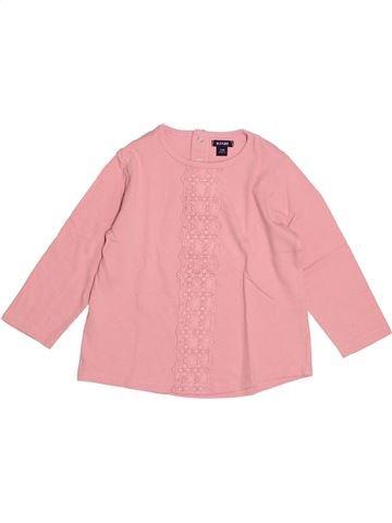 T-shirt manches longues fille KIABI rose 2 ans hiver #1527838_1