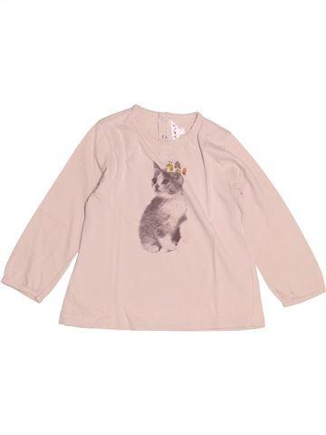 T-shirt manches longues fille KIABI violet 4 ans hiver #1528039_1