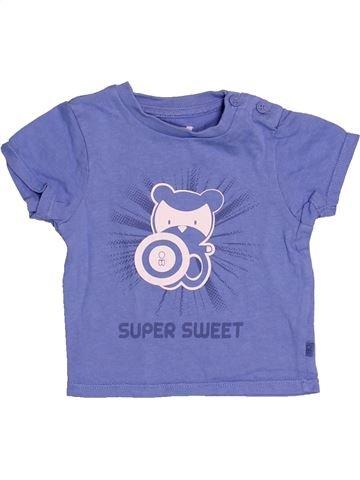 T-shirt manches courtes garçon OKAIDI violet 3 mois été #1528313_1