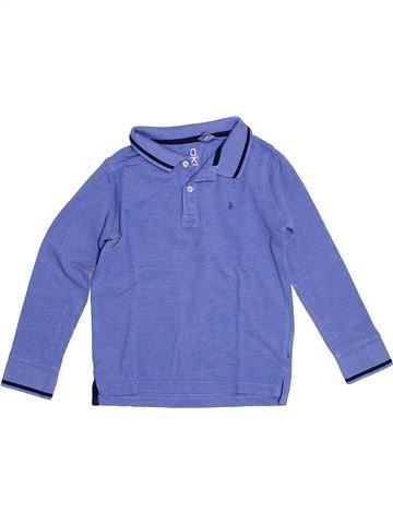 Polo manches longues garçon OKAIDI violet 5 ans hiver #1528736_1