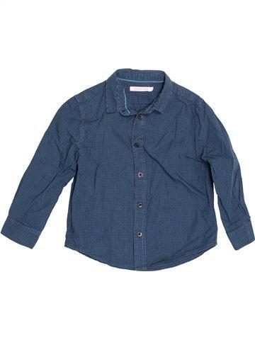 Chemise manches longues garçon MONOPRIX bleu 4 ans hiver #1528738_1