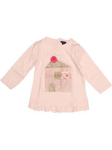 T-shirt manches longues fille KIABI beige 18 mois hiver #1528782_1