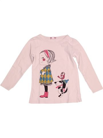 T-shirt manches longues fille DPAM rose 4 ans hiver #1528928_1