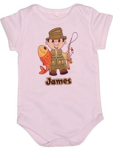 T-shirt manches courtes garçon SANS MARQUE rose 6 mois été #1528981_1