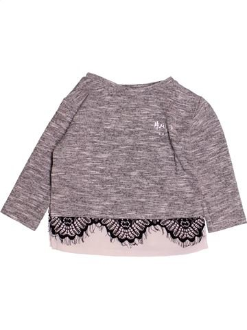Pull fille RIVER ISLAND gris 6 mois hiver #1529042_1