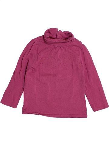 T-shirt col roulé fille KIABI violet 3 ans hiver #1529622_1