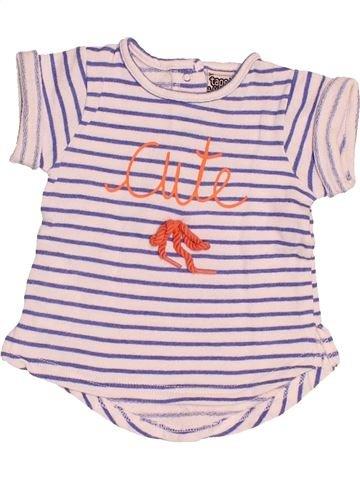 T-shirt manches courtes fille TAPE À L'OEIL rose 3 mois été #1529753_1