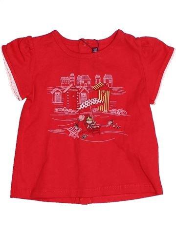 T-shirt manches courtes fille SERGENT MAJOR rouge 6 mois été #1529809_1