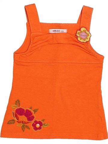T-shirt sans manches fille KENZO orange 3 ans été #1529813_1