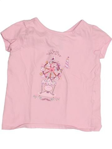 T-shirt manches courtes fille SERGENT MAJOR rose 2 ans été #1529995_1