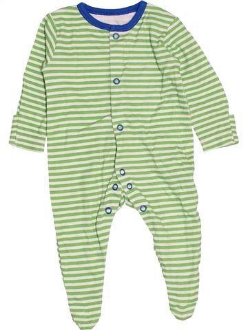 Pyjama 1 pièce garçon GEORGE vert 1 mois été #1531110_1