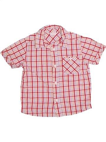 Chemise manches courtes garçon MINI CLUB violet 3 ans été #1531193_1
