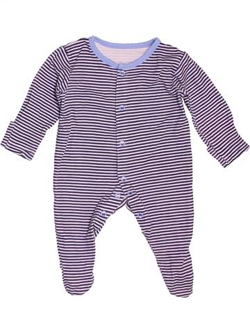 Pyjama 1 pièce garçon GEORGE blanc 1 mois été #1533568_1