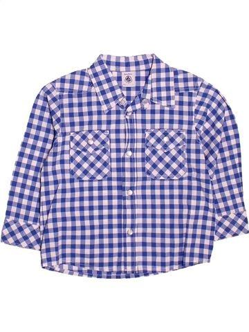 Chemise manches longues garçon PETIT BATEAU violet 3 ans hiver #1534205_1