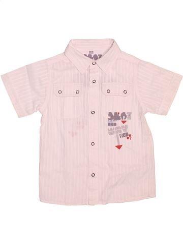 Chemise manches courtes garçon LH BY LA HALLE blanc 5 ans été #1534423_1
