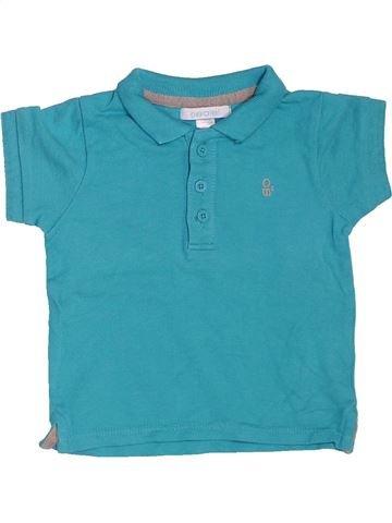 Polo manches courtes garçon OKAIDI bleu 6 mois été #1534699_1