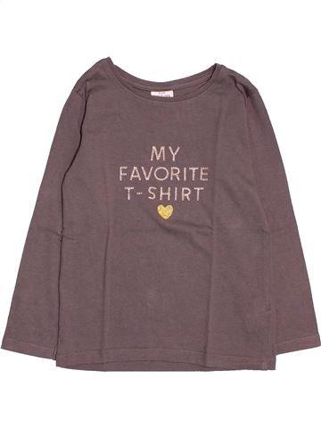 T-shirt manches longues fille TAPE À L'OEIL violet 4 ans hiver #1534862_1