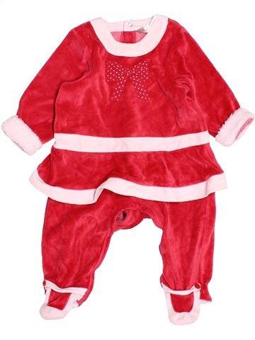 Pyjama 1 pièce fille ORCHESTRA blanc 6 mois hiver #1535432_1