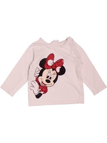 Camiseta de manga larga niña DISNEY rosa 6 meses invierno #1535703_1