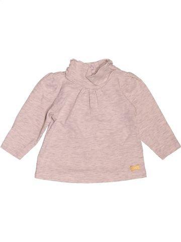 T-shirt col roulé fille TAPE À L'OEIL rose 3 mois hiver #1535840_1