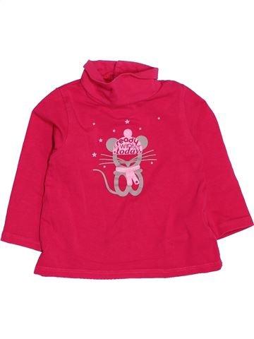 Camiseta de cuello alto niña OKAIDI rosa 12 meses invierno #1536873_1