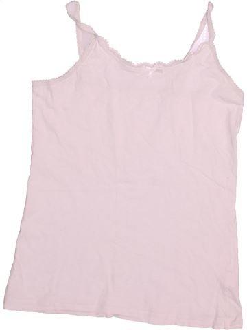 T-shirt sans manches fille TU blanc 12 ans été #1537376_1