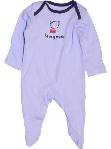 Pyjama 1 pièce garçon GEORGE violet 1 mois été #1537495_1
