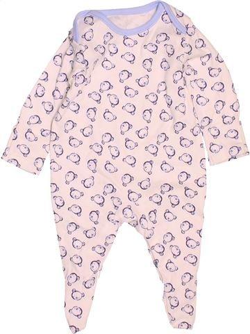 Pyjama 1 pièce garçon GEORGE blanc 1 mois été #1537681_1