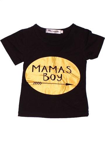 T-shirt manches courtes garçon PHENOVO noir 9 mois été #1537772_1