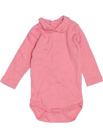 Camiseta de manga larga niña VERTBAUDET rosa 3 meses invierno #1538075_1